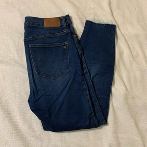 Size 29 Madewell skinny jeans